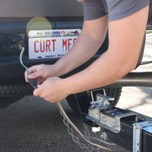 CURT Vehicle Trailer Wiring Connector Plug In