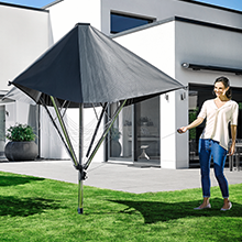 leifheit 82100 w scheschirm linoprotect 400 w scheschirm aluminium anthrazit 220 5 x 80 x 60. Black Bedroom Furniture Sets. Home Design Ideas