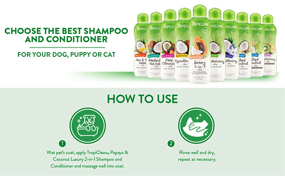 choose the best shampoo and conditioner for your dog puppy or cat