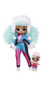 LOL Surprise!  Модная кукла OMG Winter Chill ICY Gurl и кукла Brrr BB