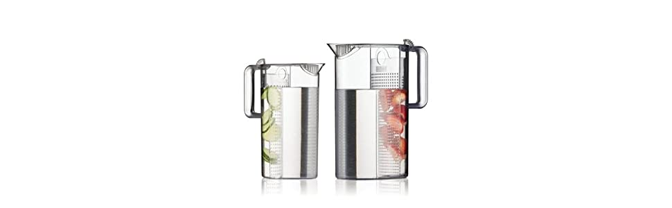 Bodum 1470-10 Clear 1470-10/_Transparent Iced Tea Maker 51 oz. 1.5 l Ceylon Ice Tea Jug with Filter