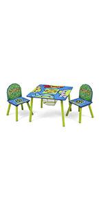 Table and Chair Set with Storage, Nickelodeon Ninja Turtles