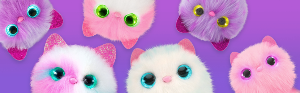Pomsie; Kitten; Light-Up Eyes; Light-Up; Interactive; Plush; Skyrocket; Accessory; Purr; Fashion;