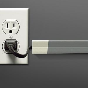 Amazon.com: UT Wire - 10 Foot Flexible Cord Channel - (White)   2 ...