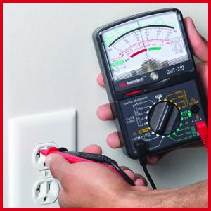 Gardner Bender Analog Multimeter, Outlet test