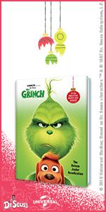 Dr Seuss The Grinch, Junior Novel, Deluxe, movie, The Grinch, Illumination, Dr. Seuss, family, kids