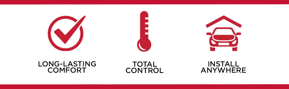 Long-Lasting Comfort ,Total Control, Install Anywhere