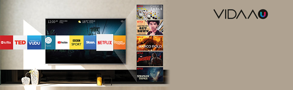 Vidaa u smart tv app netflix prime video