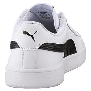 Smash V2 L, Sneakers Basses Mixte Adulte, Blanc White-Amazon Green 03, 41 EUPuma