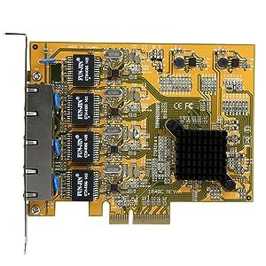 StarTech.com 4 Port PCIe Network Card - PCIe Gigabit RJ45 Ports - Realtek RTL8111G Chipset - Network Card (ST1000SPEX43)