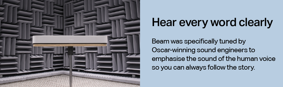 Sonos Beam - Hear every word clearly