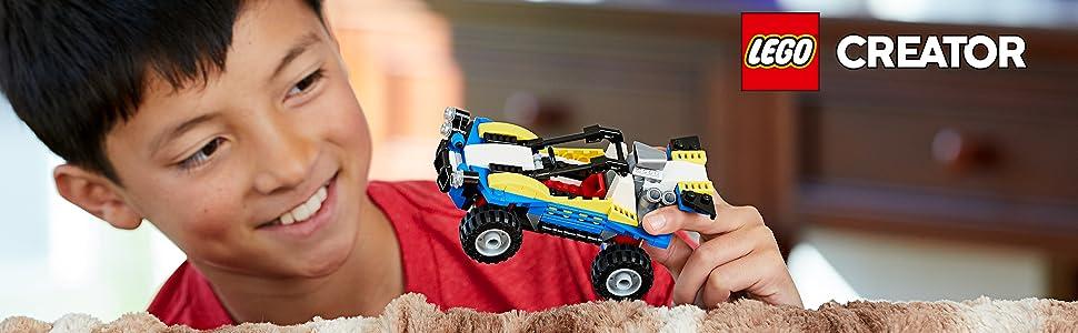 araç-otomobil-plaj-yarış-dörtlü-bisiklet-motor-yarışmak-macera-lego-yaratıcı-31087-kolay-hayal-gücü