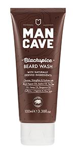mancave blackspice beard wash