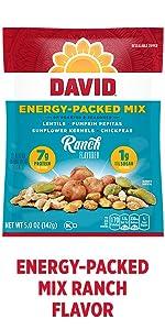 DAVIDs energy boosting plant based snack – Ranch Flavor