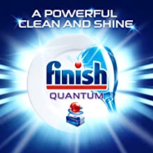 finish quantum dishwashing tablets powerful clean and shine
