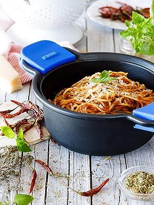 Monix Solid + Batería 4 Piezas de Aluminio Fundido con Antiadherente, Apta para Todo Tipo de cocinas Incluso inducción