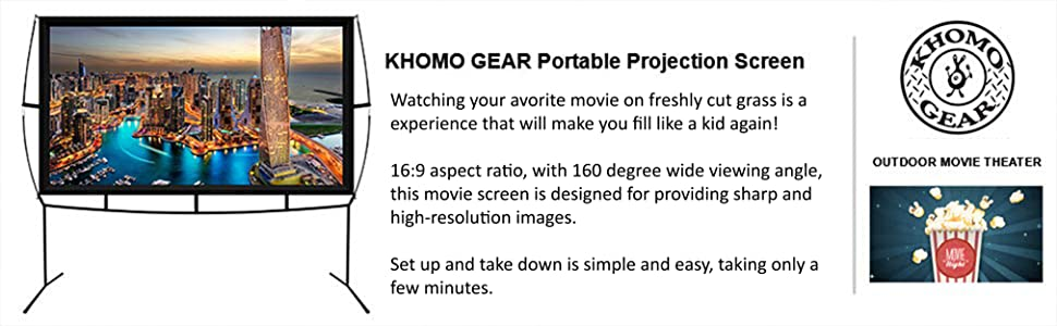portable projector screen with stand legs