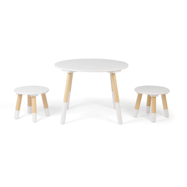 Kledio tavolino per bambini con sedie in legno bianco for Legno progetta mobili per apprendimento precoce