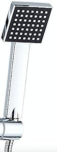 DP Grifería RY-S002 Azabache - Set de ducha cuadrado sin grifo, acero inoxidable, plateado, altura de 98 cm: Amazon.es: Bricolaje y herramientas