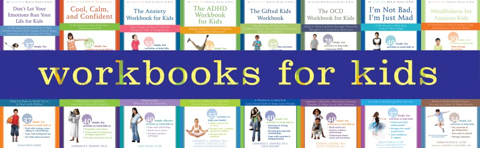 Instant Help Workbooks for Kids: books on anxiety, ADHD, OCD, anger, stress, social skills, & gender