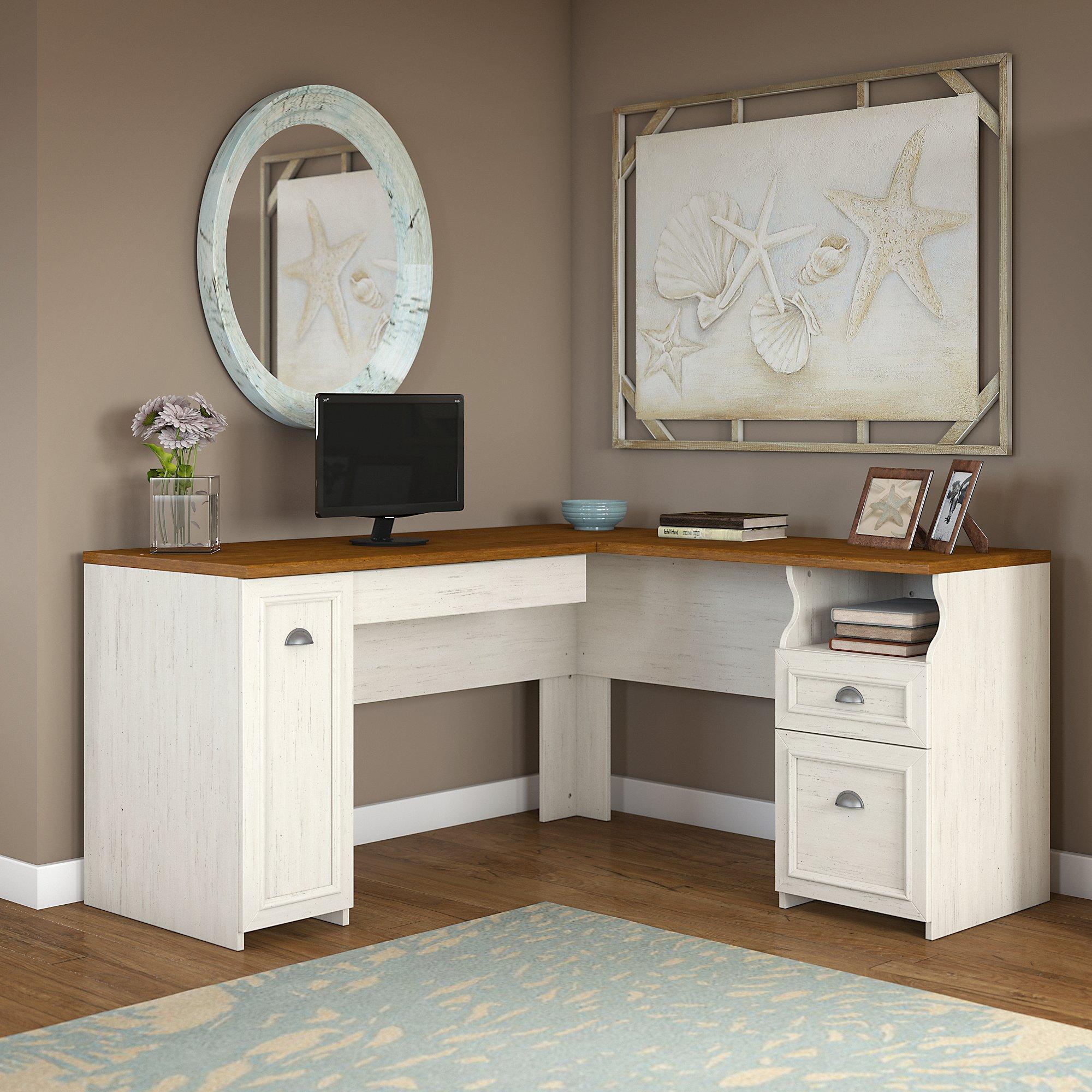 Amazon Com Bush Furniture Fairview L Shaped Desk In