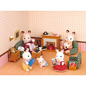 Amazon Com Calico Critters Deluxe Living Room Set Toys