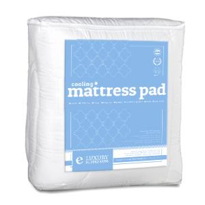 cooling mattress pad with fitted skirt extra plush cool to the touch topper made. Black Bedroom Furniture Sets. Home Design Ideas