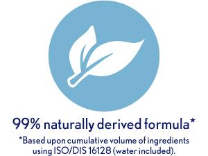 99% naturally derived formula