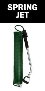 spring jet outdoor watering hose garden