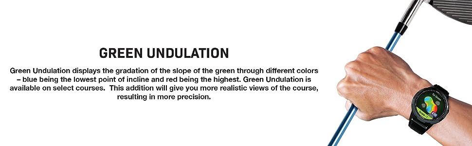 GOLFBUDDY, aim W10, Green Undulation, Smartwatch, Golf GPS, GPS Rangefinder, Rangefinder, Watch