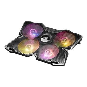 Mars Gaming MNBC3, Base Refrigerador Portátil 17.3 pulgadas, 4 Ventiladores RGB, USB, Negro: Amazon.es: Informática