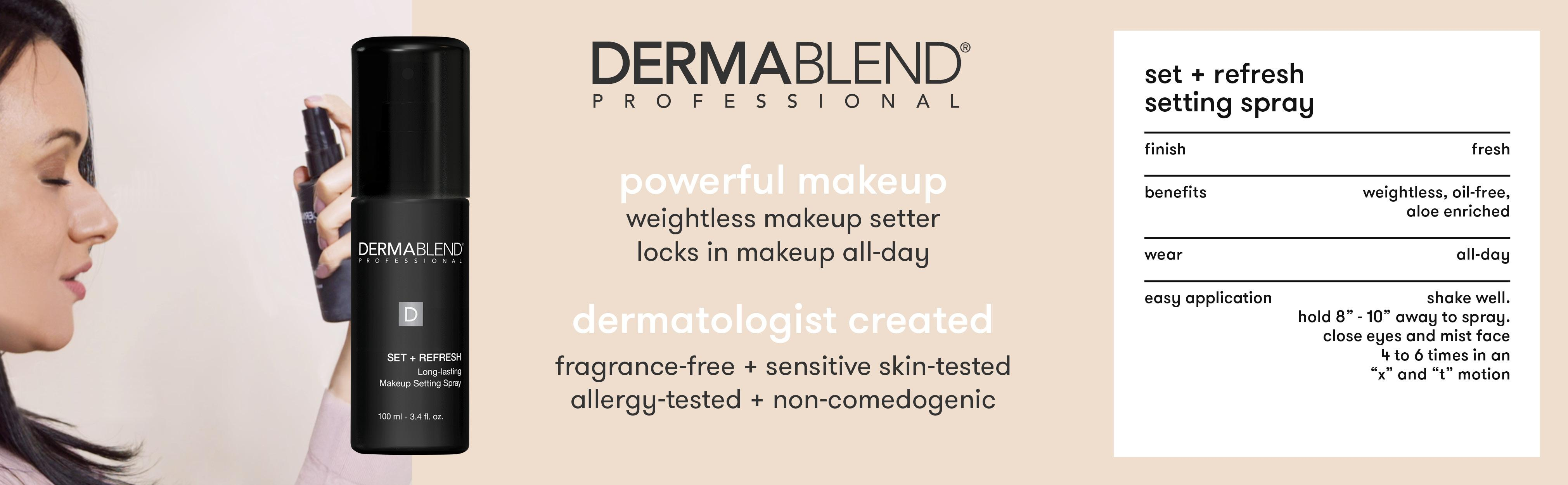 Amazon.com: Dermablend Makeup Setting Spray, 3.4 Fl Oz: Luxury Beauty
