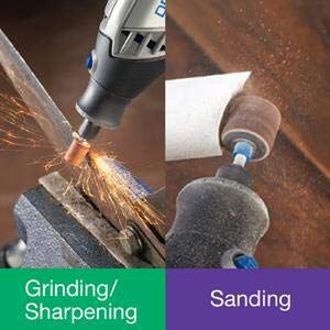 grinding sharpening chainsaw knife sanding wood restoring rotary tool pvc pipe cutting