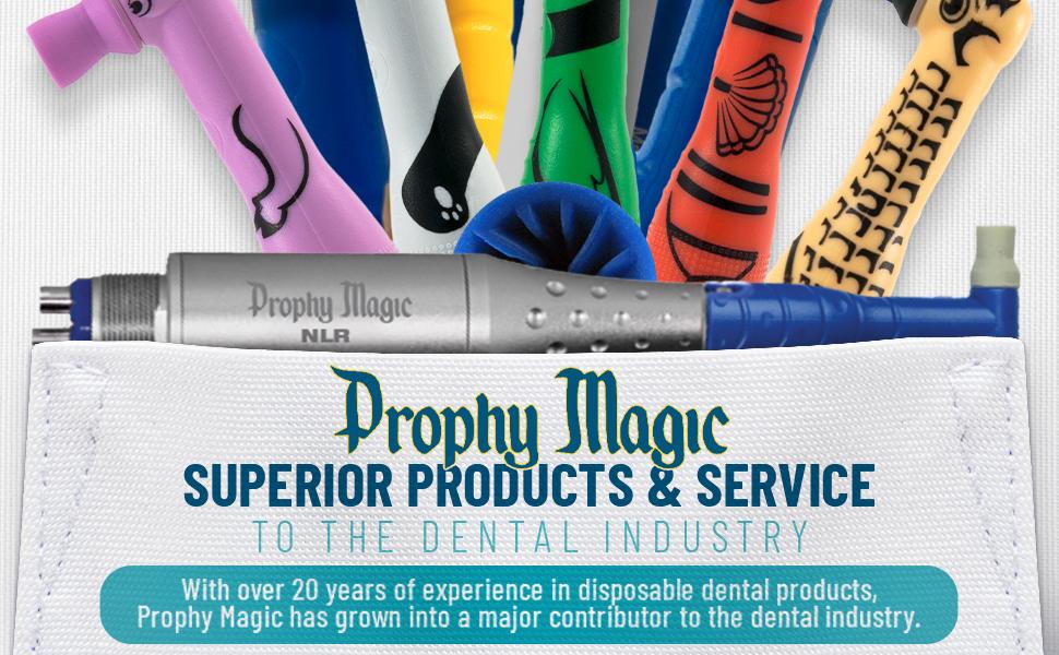 Prophy Magic Lightweight vibrationless high-strength titanium Air-permeable 100% Latex-Free