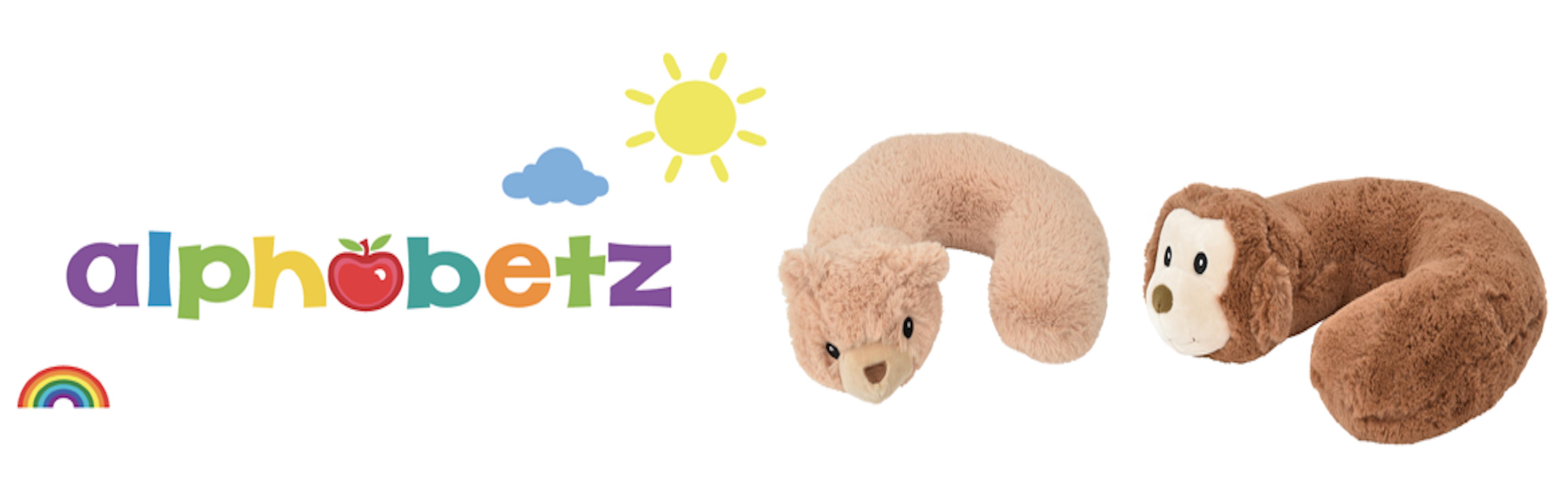 Amazon.com: alphabetz bebé almohada de viaje, cabeza y ...