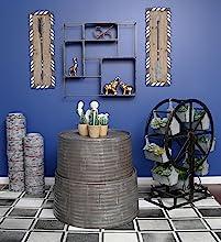 Industrial, Trendy, Art deco, Home, Decor, Vase, Plant, Figurine, Statue, Wall, Shelf, Tin, Outdoor