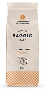 Caramelo Baggio Café aromatizado torrado e moído