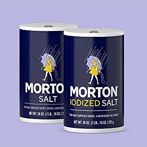 Morton Plain and Iodized Salt