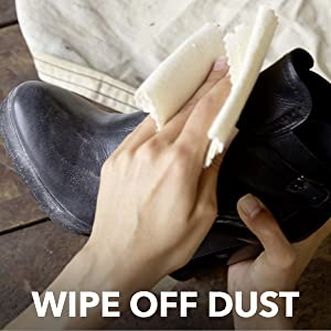 Step 1 - Use a clean cloth to wipe any loose dirt