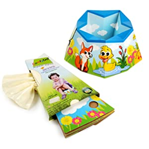 ComfyDo;Baby;Kind;Faltbarer;Tragbar;Reise;Unterwegs;Karton;Töpfchen;Toilettensitze;Toilettentrainer