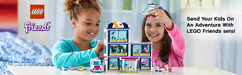 Amazoncom Lego Friends Heartlake Hospital 41318 Building Kit 871