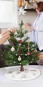 Miniature Christmas Tree with Hallmark miniature ornaments
