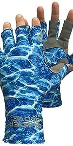 day wolf Guantes de Pesca Protecci/ón UV Transpirable sin Dedos UPF 50 para Remo al Aire Libre Kayak Remo Senderismo Ciclismo Conducci/ón Entrenamiento de Tiro para Hombres y Mujeres