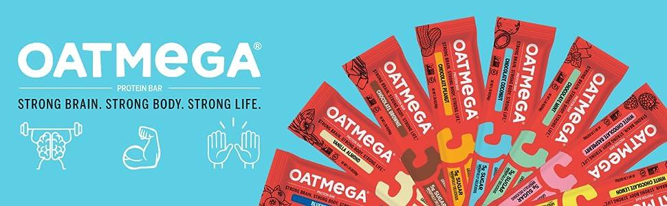 oatmega protein cookies bars healthy snacks omega 3