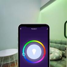 fita led decorativa inteligente colorida wifi verde