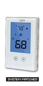 non-programmable clear touch touchscreen electronic sensing accuracy line voltage wall fan forced