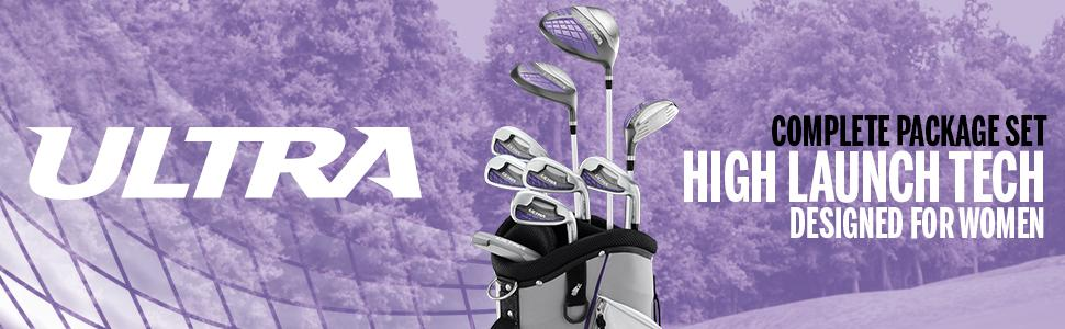 Amazon.com : Wilson Golf Women's Ultra Package Set, Right Hand, White : Sports & Outdoors