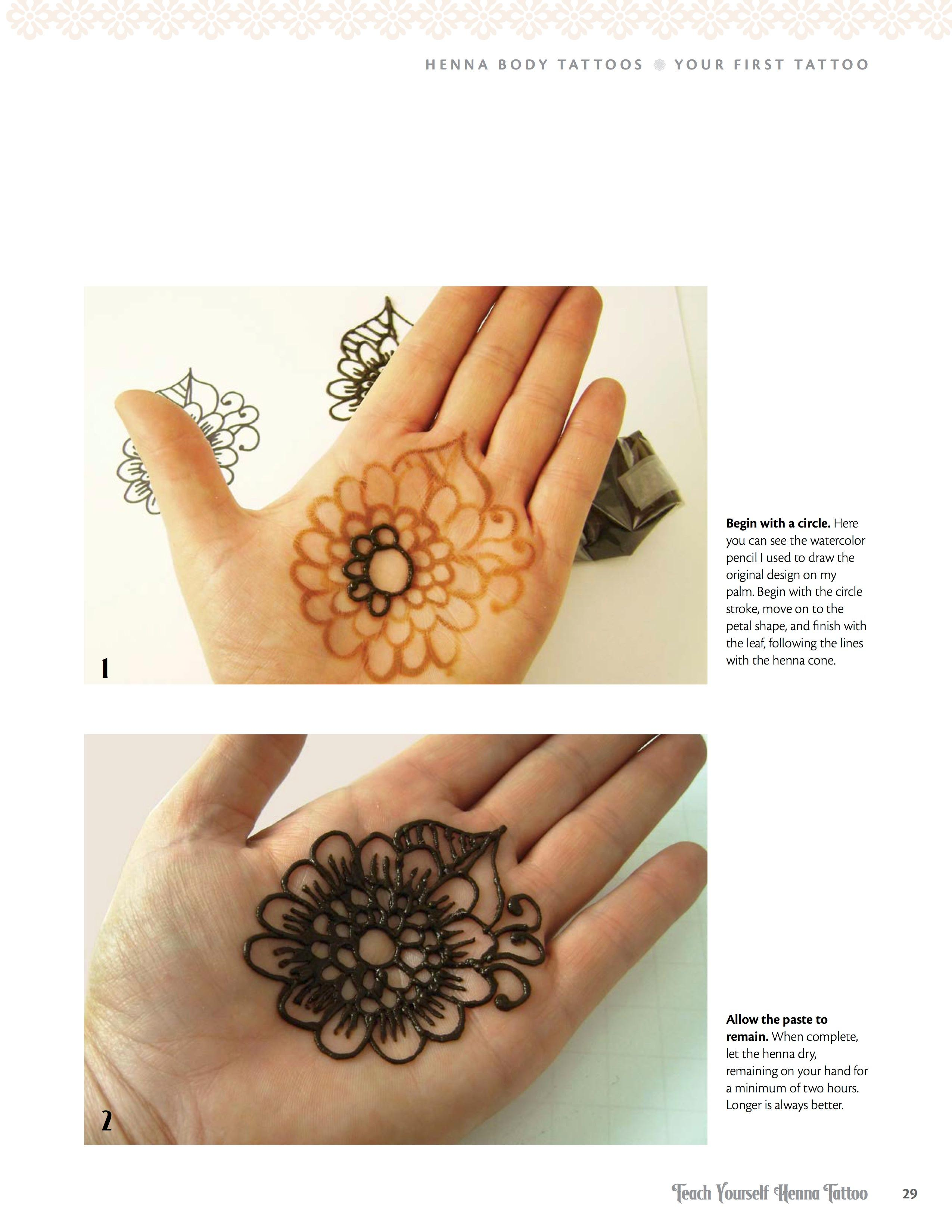Teach Yourself Henna Tattoo Making Mehndi Art With Easy To Follow