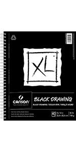 Black Drawing Paper