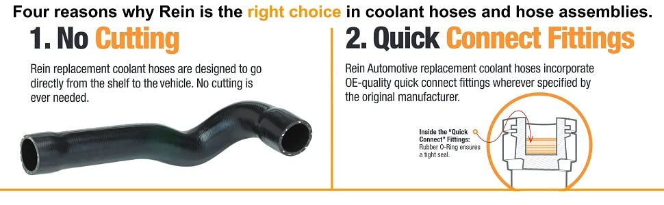 Rein No Cutting and Quick Connect Fittings images for engine cooling hoses